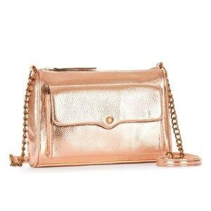 NEW Rose Gold Crossbody Bag Gold Hardware Purse